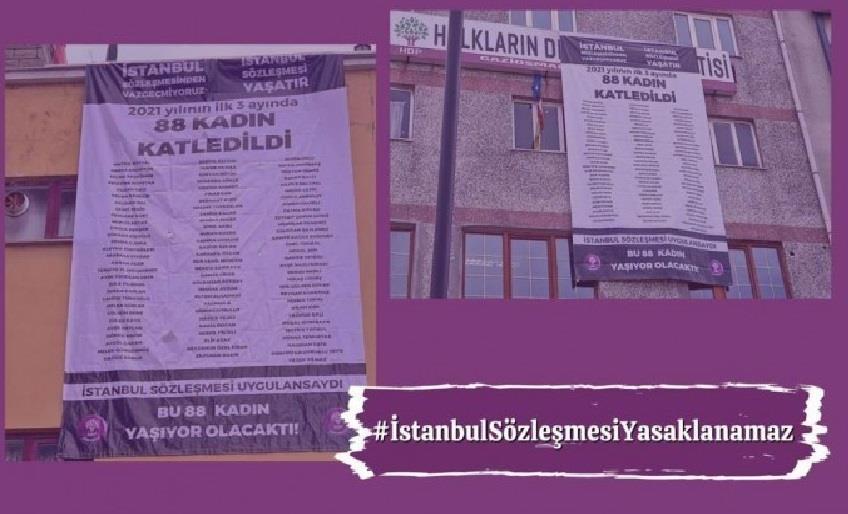 HDP'DEN 'İSTANBUL SÖZLEŞMESİ' İÇİN EYLEM