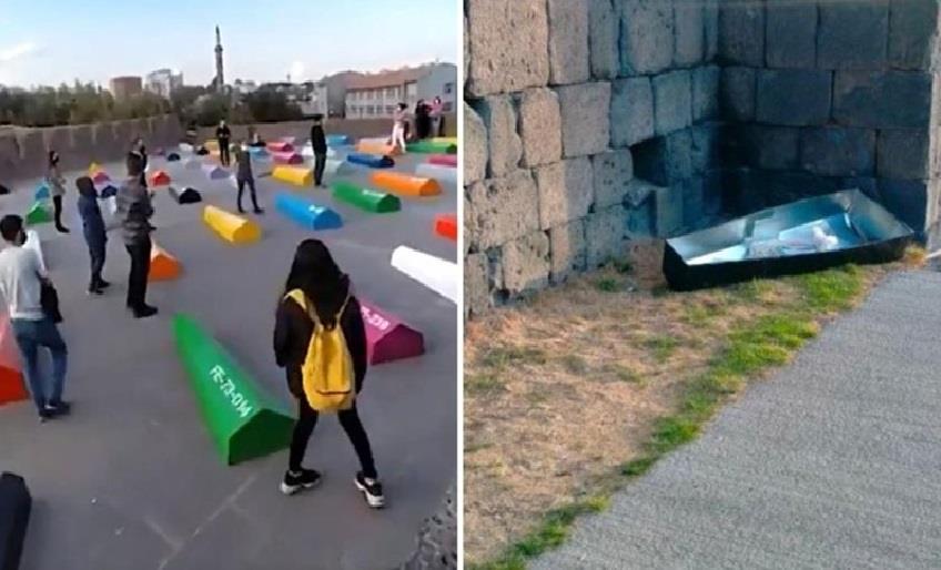 DİYARBAKIR'DAKİ 'HAFIZA ODASI' SERGİSİNDE PROTESTO!